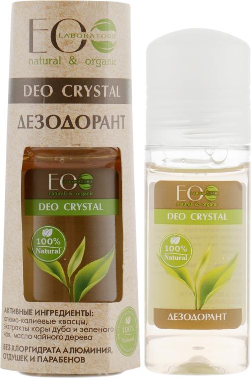 "Дезодорант за тяло ""Дъбова кора и зелен чай"" - ECO Laboratorie Deo Crystal"