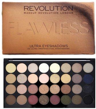 Палитра сенки за очи , 32 цвята - Makeup Revolution Ultra 32 Shade Palette Flawless
