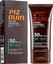 Парфюмерия и Козметика Слънцезащитен крем-гел за лице - Piz Buin Hydro Infusion SPF 50