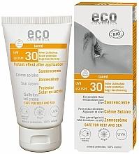 Парфюмерия и Козметика Водоустойчив слънцезащитен крем SPF 30 с тен ефект - Eco Cosmetics Sonne SLF 30 Getoent