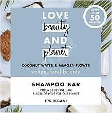 Парфюмерия и Козметика Твърд шампоан за обем с кокос и мимоза - Love Beauty And Planet Coconut & Mimosa Shampoo