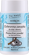 Парфюмерия и Козметика Защитна пудра за крака и обувки с евкалиптово масло и ментол - Marion Dr Koala Protective Powder