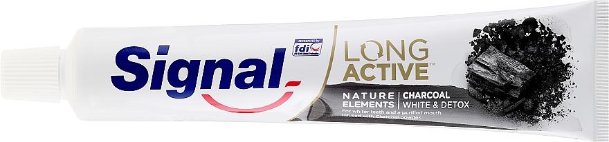 Паста за зъби - Signal Long Active Nature Elements Charcoal — снимка N2