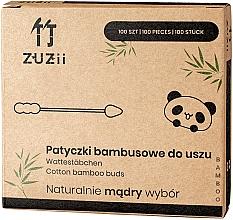 Парфюмерия и Козметика Бамбукови клечки за уши с два различни накрайника - Zuzii Bamboo Cotton Buds