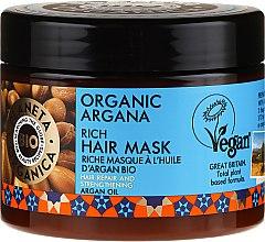 Парфюмерия и Козметика Възстановяваща маска за коса - Planeta Organica Organic Argana Rich Hair Mask