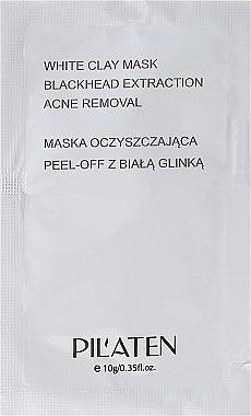 "Почистваща маска за лице ""Бяла глина"" (мостра) - Pilaten White Clay Mask Blackhead Extraction Acne Removal"