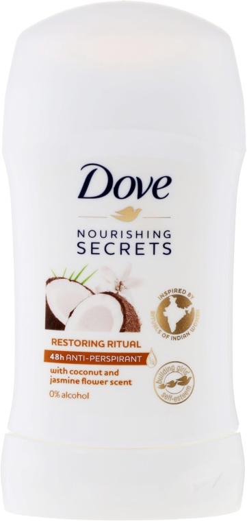 Стик дезодорант с аромат на кокос и жасмин - Dove Nourishing Secrets Restoring Ritual Deodorant