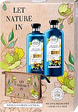 Парфюмерия и Козметика Комплект за коса - Herbal Essences Argan Oil of Morocco (шамп./400ml+балсам/360ml+козм. чанта)