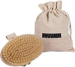 Парфюмерия и Козметика Четка за масаж и баня, меки влакна, светлокафява - Hhuumm № 3