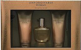 Парфюми, Парфюмерия, козметика Sean John Unforgivable Woman - Комплект (парф. вода/75ml + душ гел/100ml + лосион за тяло/100ml)
