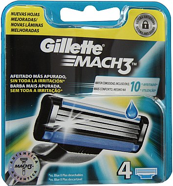 Сменяеми ножчета за бръснене, 4 бр. - Gillette Mach3 — снимка N2