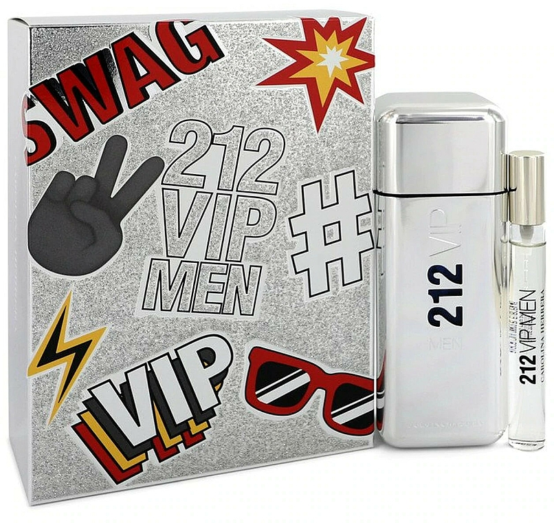 Carolina Herrera 212 VIP Gift Set 2 - Комплект тоалетна вода (edt/100ml + edt/mini/10ml)