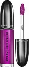 Парфюмерия и Козметика Матово течно червило за устни с метален ефект - M.A.C Retro Matte Liquid Lipcolour Metallics