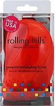 Парфюмерия и Козметика Компактна четка за коса, червена - Rolling Hills Compact Detangling Brush Red