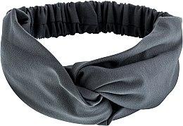 """Парфюмерия и Козметика Лента за глава, от плат, сива """"Knit Twist"""" - MakeUp Hair Accessories"""