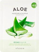 Парфюмерия и Козметика Памучна маска за лице с екстракт от алое - It's Skin The Fresh Mask Sheet Aloe