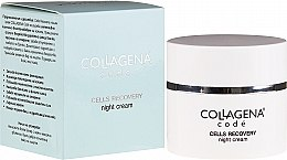 Парфюмерия и Козметика Нощен крем за лице - Collagena Code Cells Recovery Night Cream