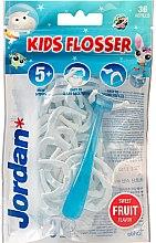 Парфюмерия и Козметика Комплект конци за зъби - Jordan Kids Flosser (floss/1szt+refils/36szt)