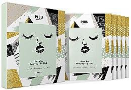 Парфюми, Парфюмерия, козметика Комплект маски за лице - Pibu Beauty Green Tea Purifying Clay Mask Set (f/mask/5x18g)