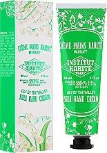 Парфюмерия и Козметика Крем за ръце с масло от ший и аромат на момина сълза - Institut Karite So Chic Hand Cream Lily Of The Valley