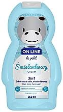 Парфюмерия и Козметика Измиващ гел за коса, тяло и лице с аромат на сметана - On Line Le Petit Cream 3 In 1 Hair Body Face Wash