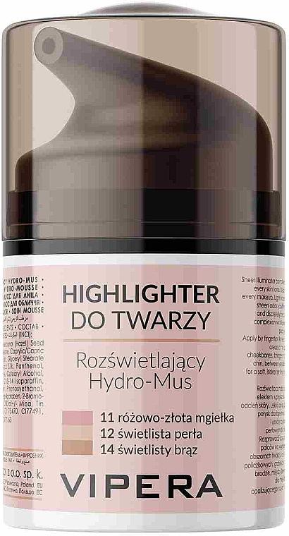 Мус хайлайтър за лице - Vipera Illuminating Hydro-Mousse Highlighter — снимка N1