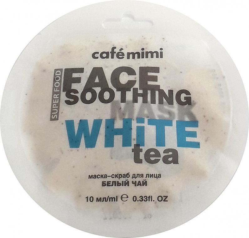 Маска-скраб за лице с бял чай и лотос - Cafe Mimi Face Mask