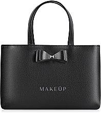 Парфюмерия и Козметика Кожена чанта с панделка Black elegance - MakeUp