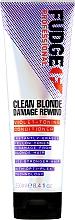 Парфюмерия и Козметика Тонизиращ балсам за коса - Fudge Clean Blonde Damage Rewind Conditioner