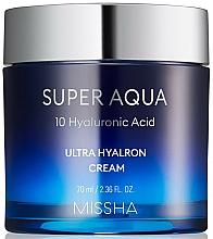 Парфюмерия и Козметика Хидратиращ хиалуронов крем за лице - Missha Super Aqua Ultra Hyalron Cream