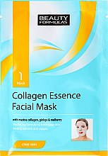 Парфюми, Парфюмерия, козметика Маска за лице от плат с морски колаген - Beauty Formulas Collagen Essence Facial Mask