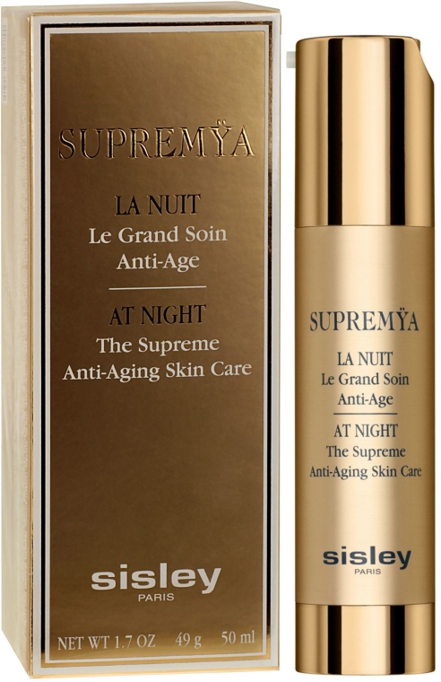 Комплексен нощен крем-серум с подмладяващ ефект - Sisley Supremya At Night The Supreme Anti-Aging Skin Care — снимка N1