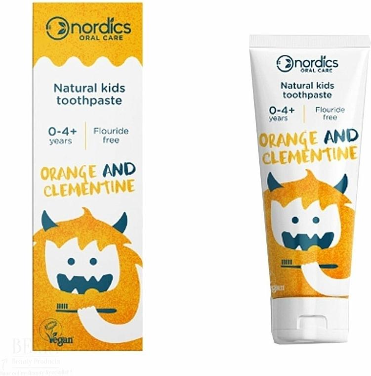 Детска паста за зъби с вкус на мандарина - Nordics Kids Orange Clementine Toothpaste — снимка N1