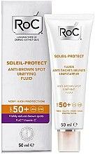 Парфюми, Парфюмерия, козметика Изсветляващ флуид срещу пигментни петна - RoC Soleil Protect Anti-Brown Spot Unifying Fluid SPF50