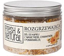 Парфюми, Парфюмерия, козметика Релаксиращи соли за вана с невен, канела и портокал - Fresh&Natural