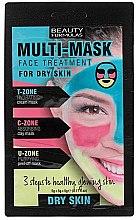 Парфюмерия и Козметика Маска за лице за суха кожа - Beauty Formulas 3-Step Multi-Mask Face Treatment For Dry Skin