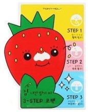 Парфюми, Парфюмерия, козметика Лентички за нос против черни точки - Tony Moly Homeless Strawberry Seeds 3-step Nose Pack