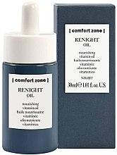 Парфюмерия и Козметика Нощно подхранващо витаминно масло за лице - Comfort Zone Renight Nourishing Vitamin Oil