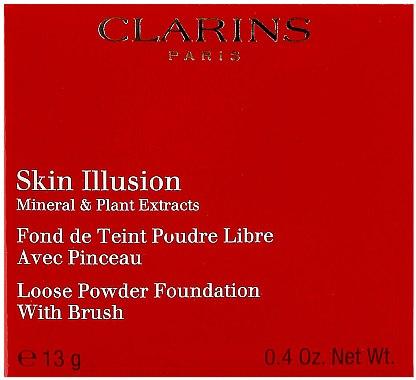 Минерална пудра на прах - Clarins Skin Illusion Loose Powder Foundation — снимка N4