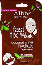 Парфюмерия и Козметика Хидратираща маска за лице с кокос - Alba Botanica Fast Fix Coconut Hydrate Sheet Mask