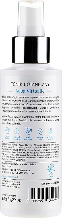 Тоник за лице - Organic Life Dermocosmetics Aqua Virtualle Moisturizing Botanical Tonic — снимка N2
