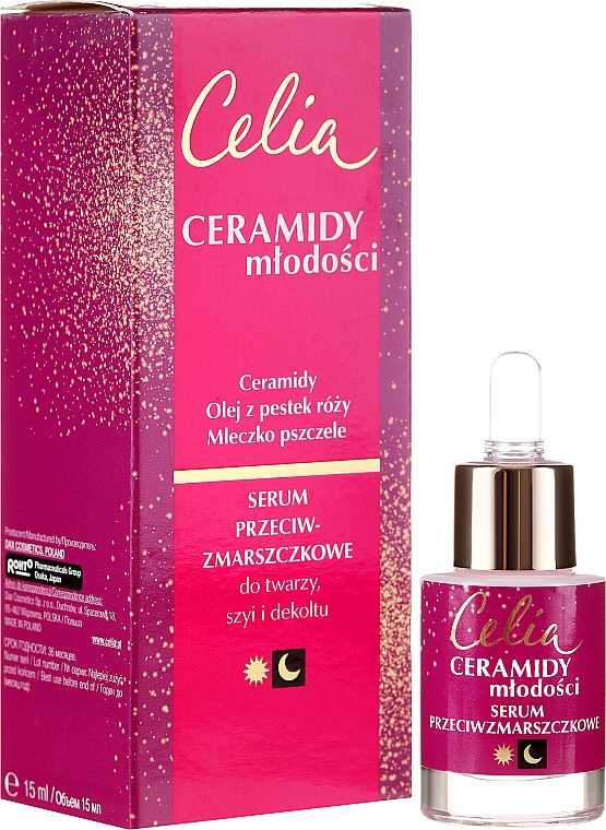 Серум против бръчки за лице, шия и деколте - Celia Ceramidy Serum