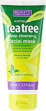 """Парфюмерия и Козметика Маска за дълбоко почистване на лице """"Чаено дърво"""" - Beauty Formulas Tea Tree Deep Cleansing Facial Mask"""