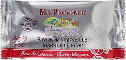 """Парфюмерия и Козметика Сапун """"Черешов цвят"""" - Ma Provence Marseille Soap Cherry Blossom"""
