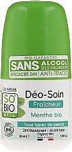 Парфюмерия и Козметика Дезодорант шариковый с бамбуковой пудрой - So'Bio Etic Deo Fresh Deodorant Mint All Skin Types