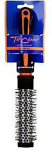 """Четка за коса """"Neon"""" кръгла 27мм, 63701, черна с оранжево - Top Choice — снимка N1"""