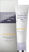 Парфюмерия и Козметика Крем за лице с ретинол и витамин Е - Isabelle Lancray Retinol Cream Vitamin E