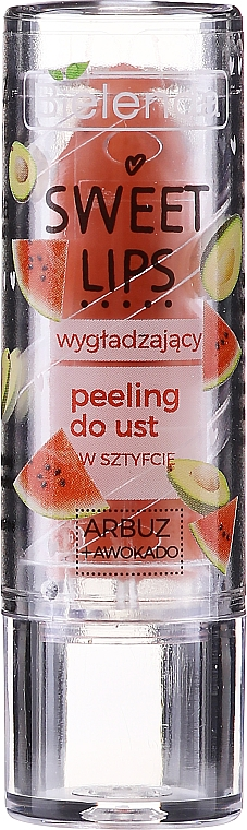 "Изглаждащ скраб за устни ""Диня + авокадо"" - Bielenda Sweet Lips Smoothing Lip Scrub"
