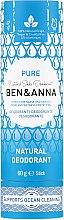 Парфюмерия и Козметика Дезодорант стик базиран на сода - Ben & Anna Pure Natural Soda Deodorant Paper Tube
