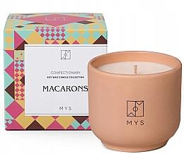 "Парфюмерия и Козметика Соева свещ ""Бадемова бисквитка"" - Mys Macarons Candle"